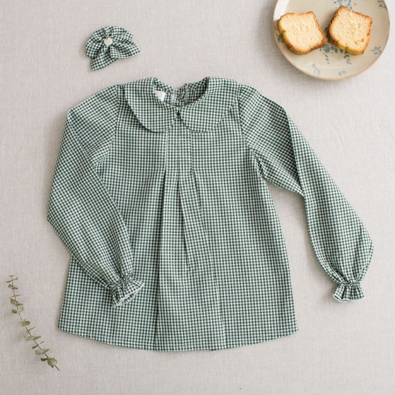 Camisa niña oliva