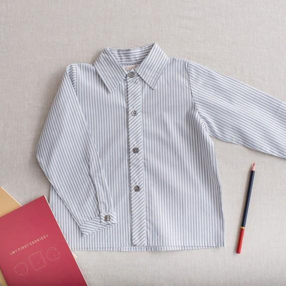 camisa niño ceniza