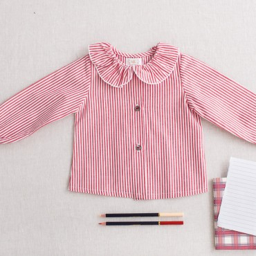 camisa bebé borgoña